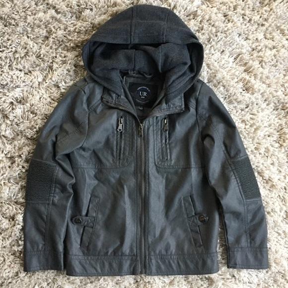 5d76493eedd3 Urban Republic Jackets   Coats Boys Faux Leather Hooded Jacket ...